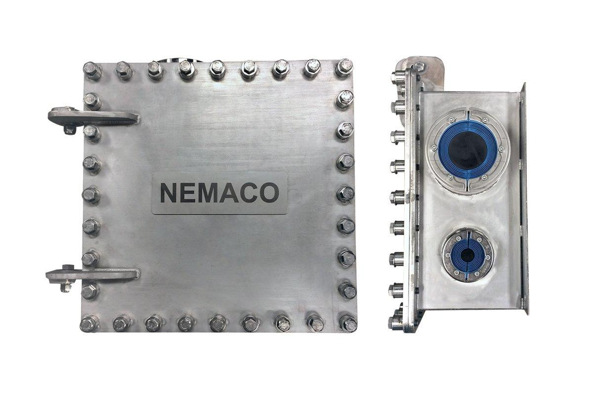 Nemaco NEMA 6P Enclosures with Roxtec seal Banner