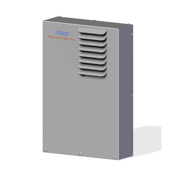 compact air to air heat exchanger for electrical enclosures