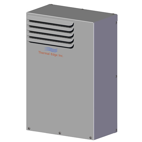 Deep air to air heat exchanger for electrical enclosures