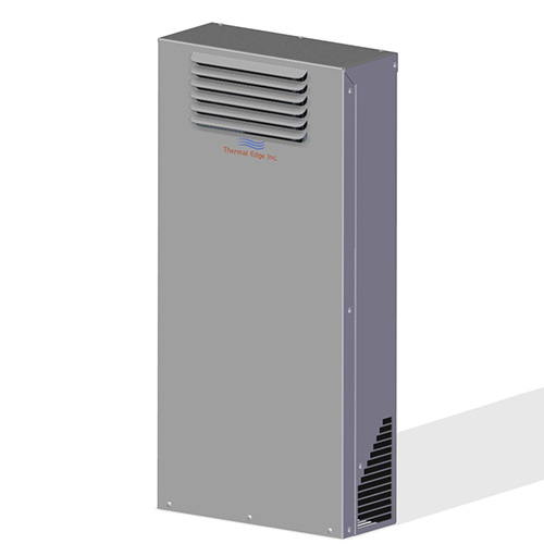 Tall air to air heat exchanger for electrical enclosures